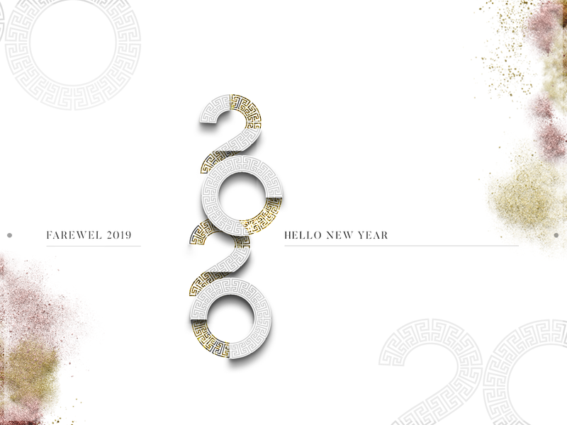Happy New Years 2020 charcoal gray grey sparkle dust happy new year 2020 happy new year new years 2020 typography bold white typogaphy type design