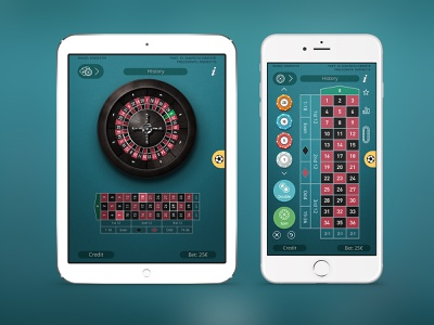 Roulette button illustration interface game roulette