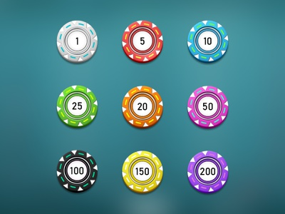 Roulette chips design button chips game roulette