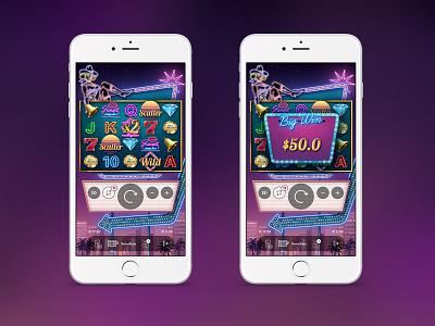 Vegas slot game design illustration interface game slot vegas