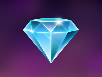 Vegas slot game design illustration diamond symbols game slot vegas