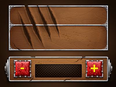 Game Interface cyberpunk werewolf scratch button interface slot game
