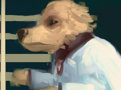 Runaway Lab Dog