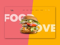 Food Love website Header 3