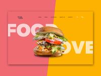 Food Love website Header 3