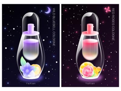 perfume bottle design illustration perfume bottle design