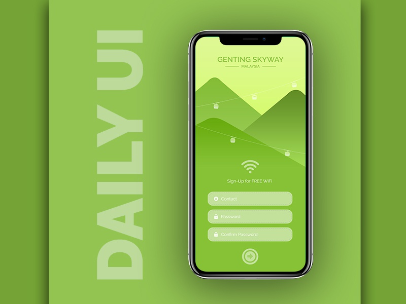 Daily UI Challenge- #001 sign up daily ui web application design ui interface