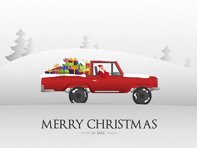Merry Christmas design holidays graphic snow gifts santa car christmas merry