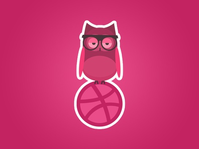 Dribbble Insomnia graphic tribute insomnia ball owl mule sticker playoff dribbble