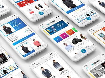 Shopclues - Mobile App Redesign design uiux interface ui app mobile shopping online e-commerce ecommerce shopclues