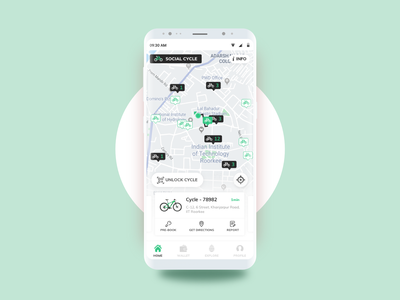 Social Cycle - Dockless Bicycle Sharing App social cycle social app design app user interface dribbble ui design design mobile app mobile ui interface uiux ux ui cycle bicycle