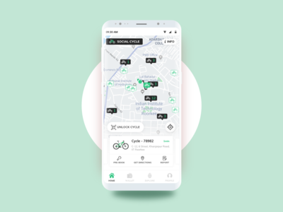Social Cycle - Dockless Bicycle Sharing App