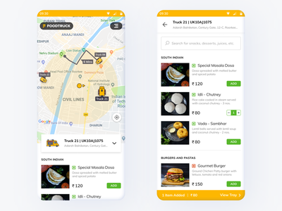 Foodtruck - A journey down the memory lane! truck eatery eat fastfood zomato food swiggy foodtruck uiux interface app ui design