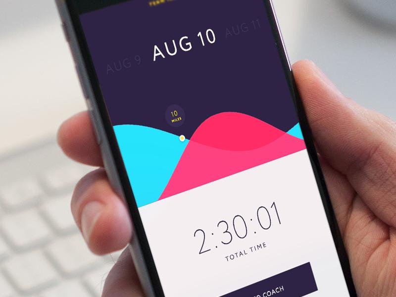 Running App exercise fitness running time minimal icon apple ios 9 simple design app