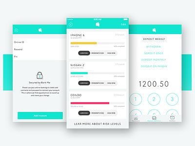 Banking App canadian minimal simple iphone goals ios savings money bank risk level banking app