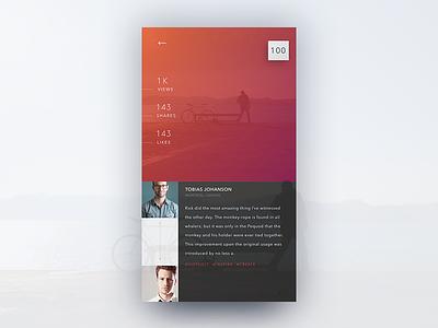 Post Concept 2 ui mobile application design concept minimal simple. sleek ios app post
