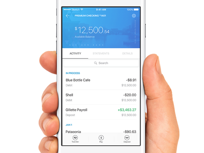 Account Activity finance ux ui iphone flat ios app banking eastern bank fintech mobile bank