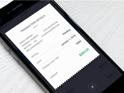 Transaction Details transaction summary finance account iphone ux ui receipt purchase fintech bank