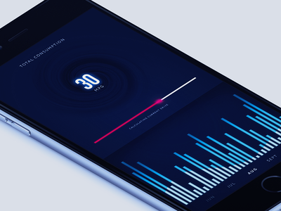 App Concept mock iphone ios dark futuristic concept light app