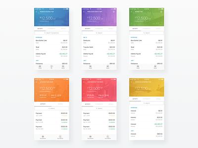 Accounts finance ui bank mobile fintech eastern bank banking app ios iphone apple simple