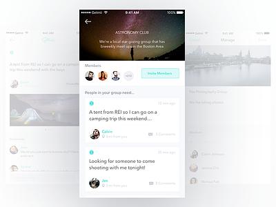 Group Screens cover photo simple native ios app manage social network harvard getmii