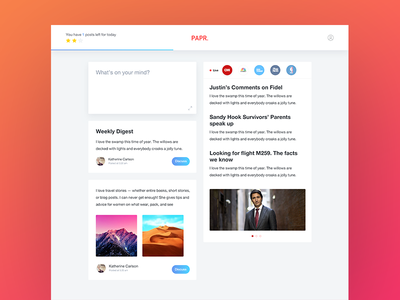 Papr Feed feed social app desktop website news