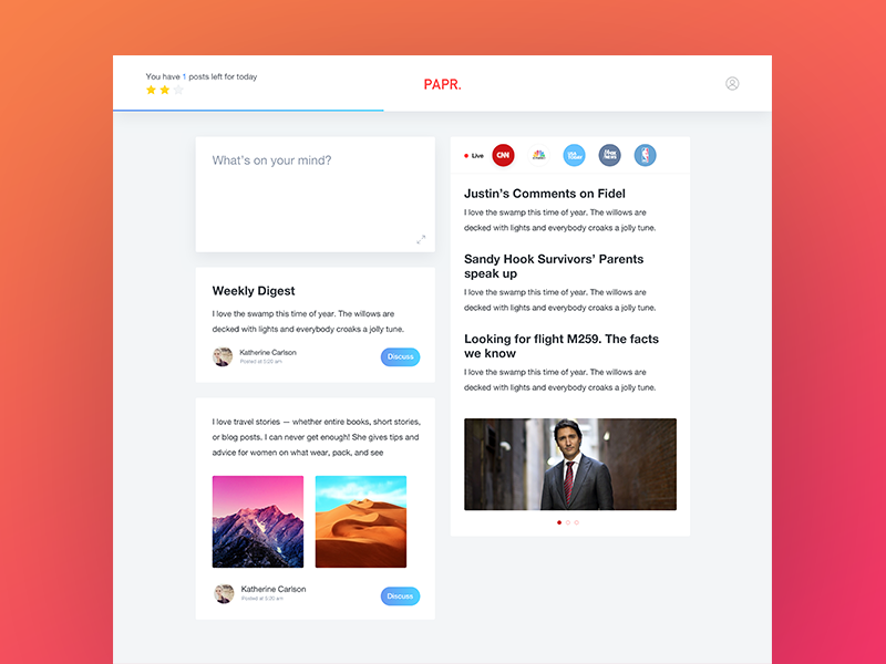 Papr Feed feed social app desktop website news