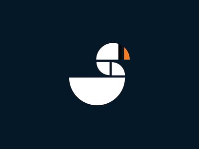 Swan Logo logo grid simple branding geometric swan