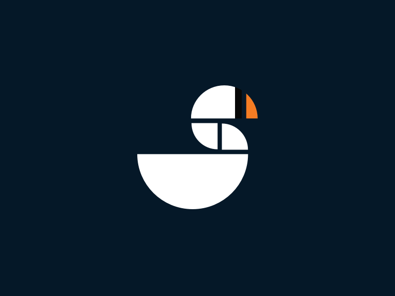 Swan Logo logo grid simple branding geometric swan