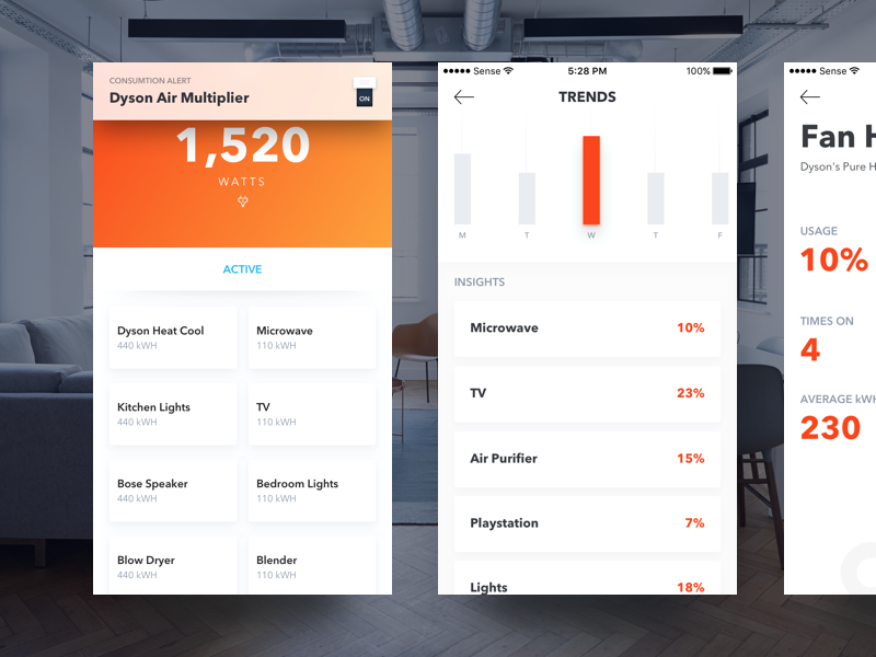 Smart Home iphone ios appliances app sense smart home