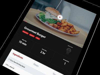 Chef App cooking apple ux ui food chef ipad app