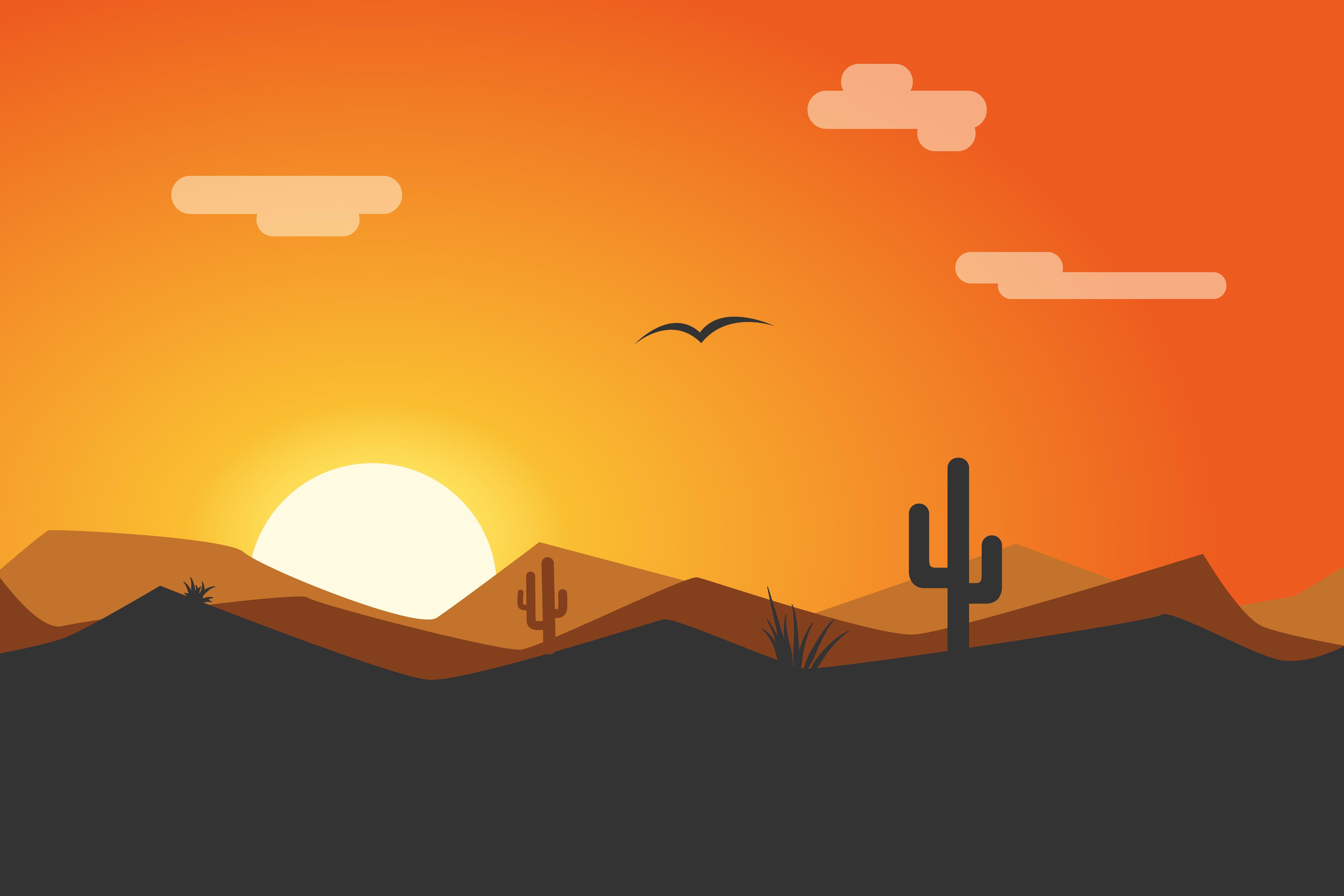 Dribbble - Desert-Sunset.png by Sarah Thomson Sunset