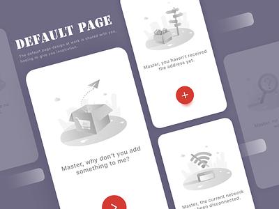 Default page interfaceillustrations page default