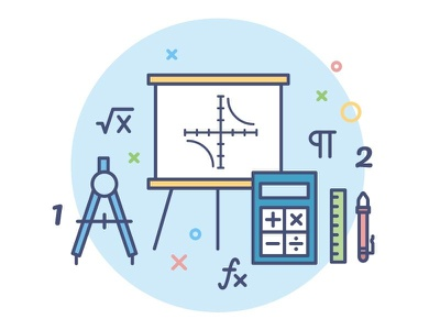 icon for education portal /mathematics mathematics school subject student lesson book education language study school outline icon illustration
