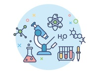 icon for education portal / chemistry