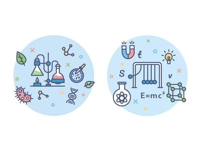icons for education portal/biology/phisics school subject student biology phisics lesson molecule education study school outline icon illustration