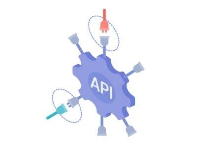 API illustration bitcoin money card blockchain mining isometric icon