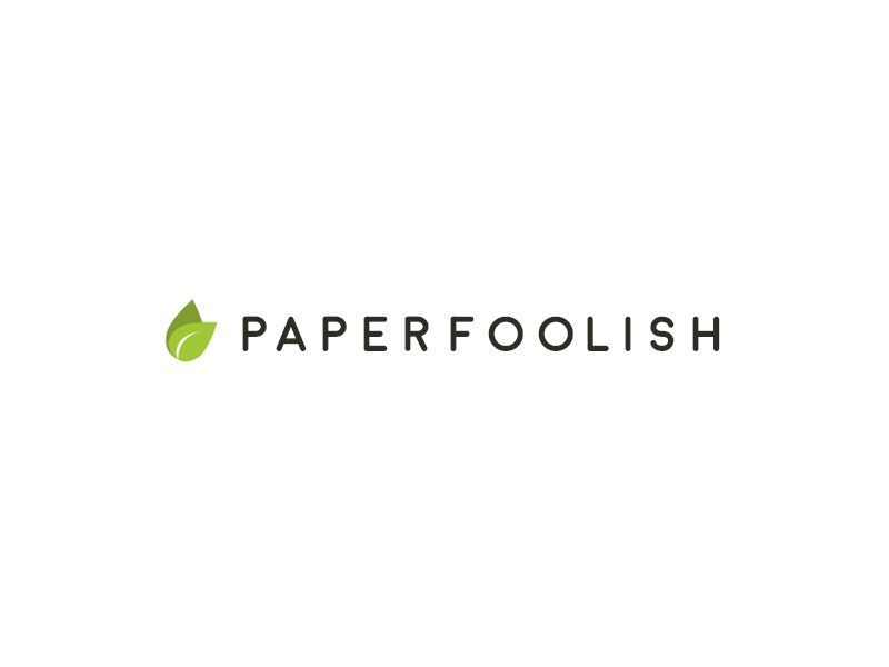 Paperfoolish - the Creative Design Firm logo design typography 2015 branding