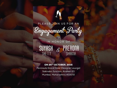 Indian Engagement Invite