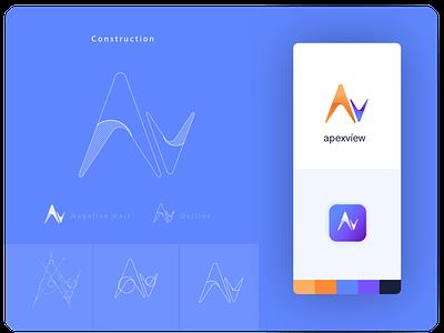 Apexview Logo Contruction brand design logo vector branding