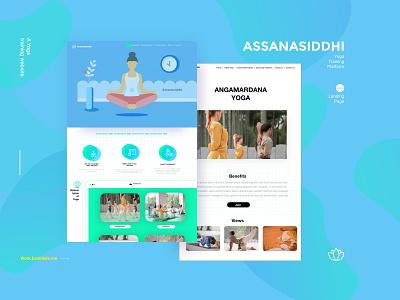 Assanasiddhi design redesign website uiux ux ui mock up