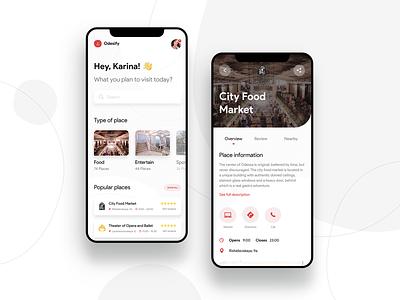 Odesa City Places App app ui