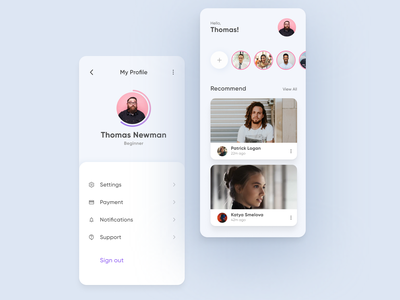 User Profile App minimal design ui  ux user profile page payment mobile app mobile daily ui dailyui daily 100 challenge