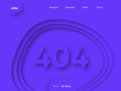 404 Page 404 page web page error 404 ui  ux design dailyui daily 100 challenge