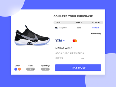 Checkout inspired bank card creditcard banking daily 100 challenge dailyui