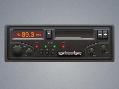 Car Stereo car stereo interface design radio fireworks