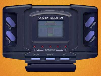 Barcode Battler interface fireworks vector ui old electronics old arcade 80s interface design