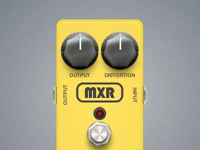 MXR Distortion Guitar Pedal interface design fireworks vector ui guitar pedal distortion