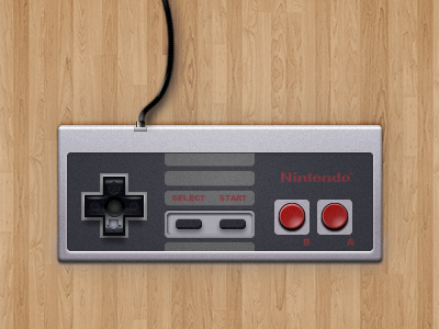 NES Controller interface fireworks vector ui old electronics old arcade 80s