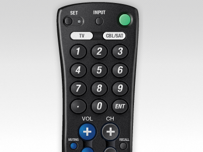 TV Remote  interface design fireworks vector ui old electronics tv